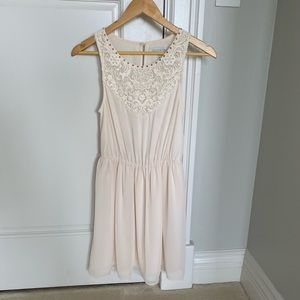 Forever New cream mini dress size 2